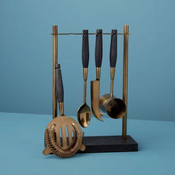 Black Mango & Aged Bronze Hanging Bar Set