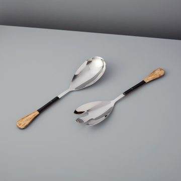 Horn Panelled Stainless Serving Set