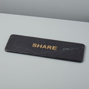 "Marine Black Marble ""Share"" Board"