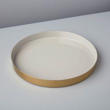 Gold & Enamel Round Tray, Small, Stardew