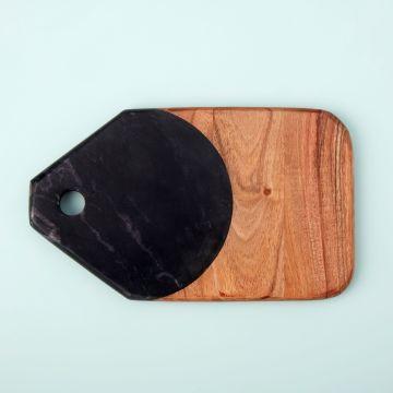 Marine Black Marble & Acacia Tab Board, Small