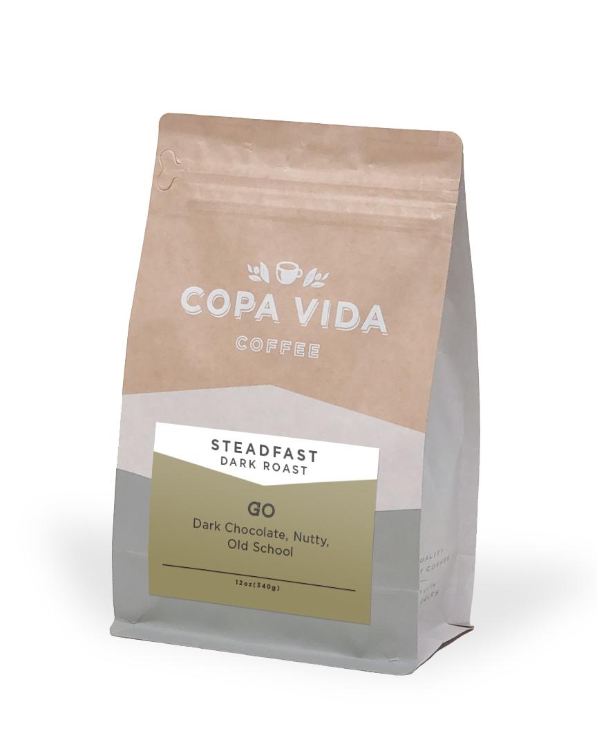 Steadfast (Dark Roast) – 12oz Bags