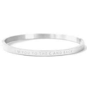 Bangle I love you to the moon and back silver