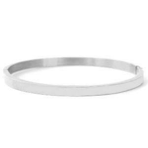 Bangle plain silver