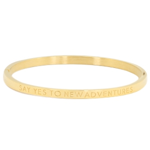 Bangle say yes to new adventures gold