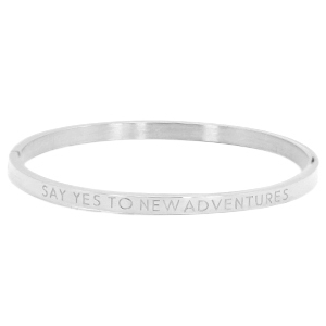 Bangle say yes to new adventures silver