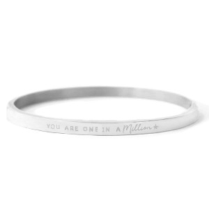 Bangle you are one in a million silver