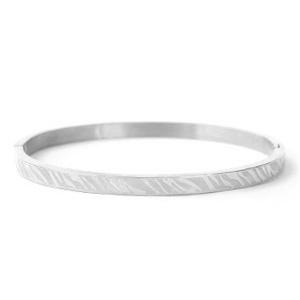 Bangle zebra silver