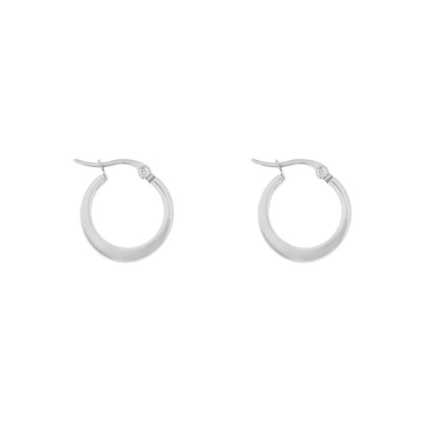 Earrings hoops round statement small silver