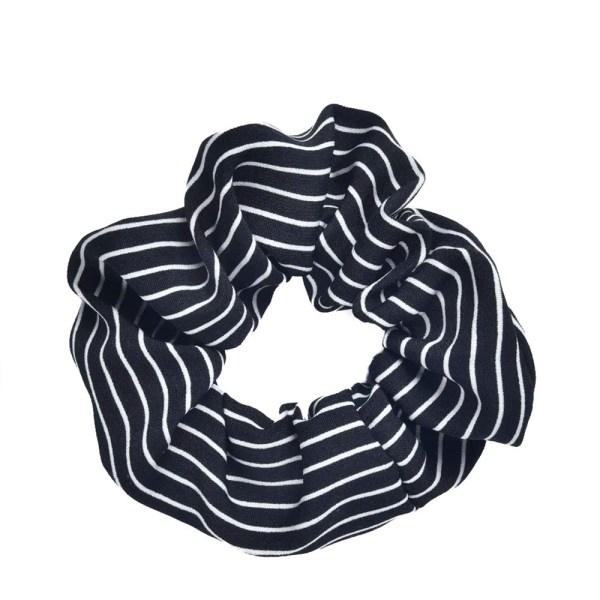 Scrunchie stripes black