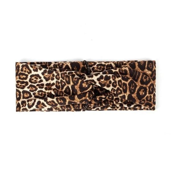 Hairband leopard brown