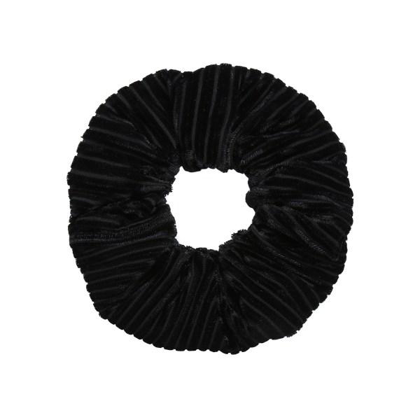 Scrunchie velvet crushed black