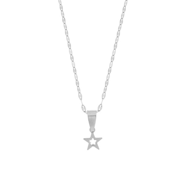 Necklace star silver