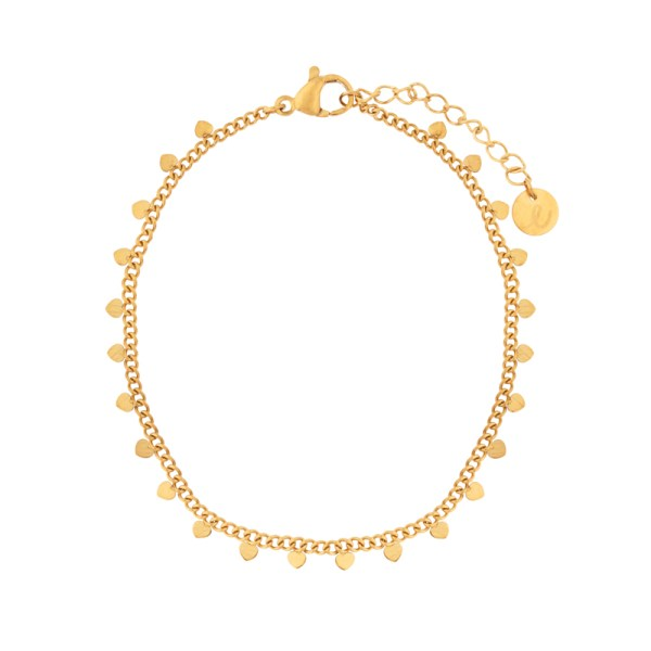 Bracelet hearts gold