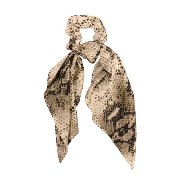 Scrunchie ribbon snake beige
