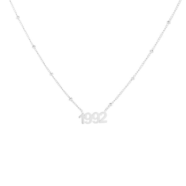 Necklace year of birth silver
