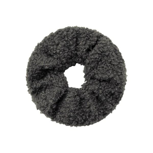 Scrunchie teddy grey