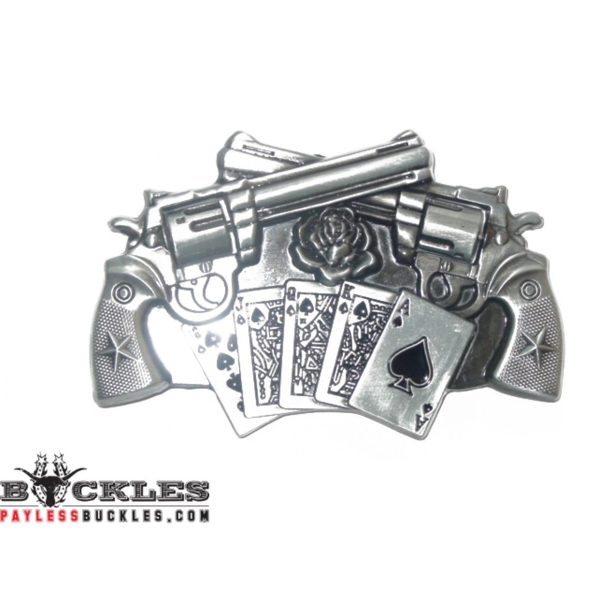 Wholesale Spinner Gun Revolver Belt Buckle