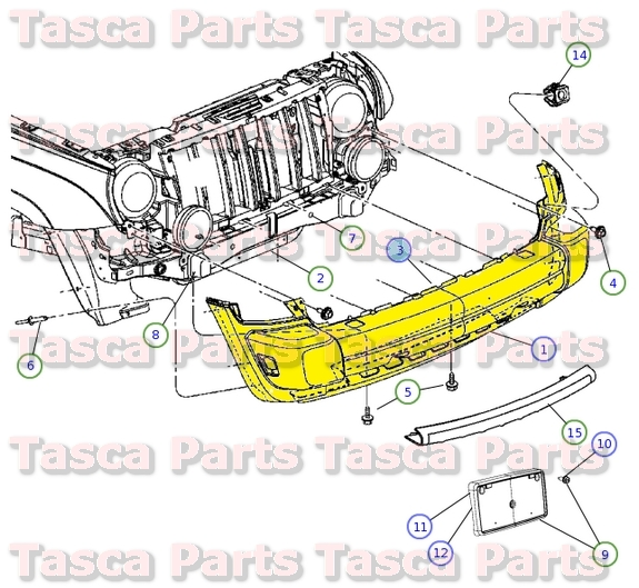 2005 jeep grand cherokee parts diagram allis chalmers b wiring new oem mopar front bumper energy absorber 2007 liberty 55156758af