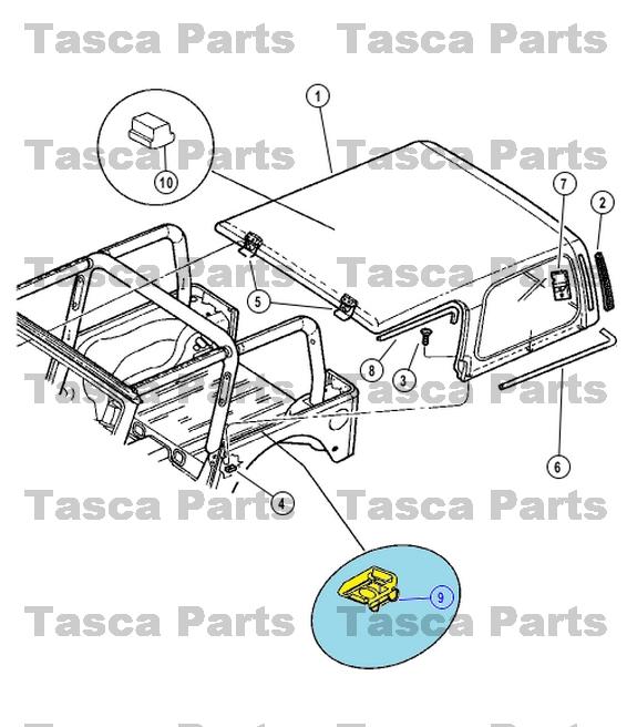 Jeep Chrysler OEM 02-06 Wrangler Removable Top-retainer