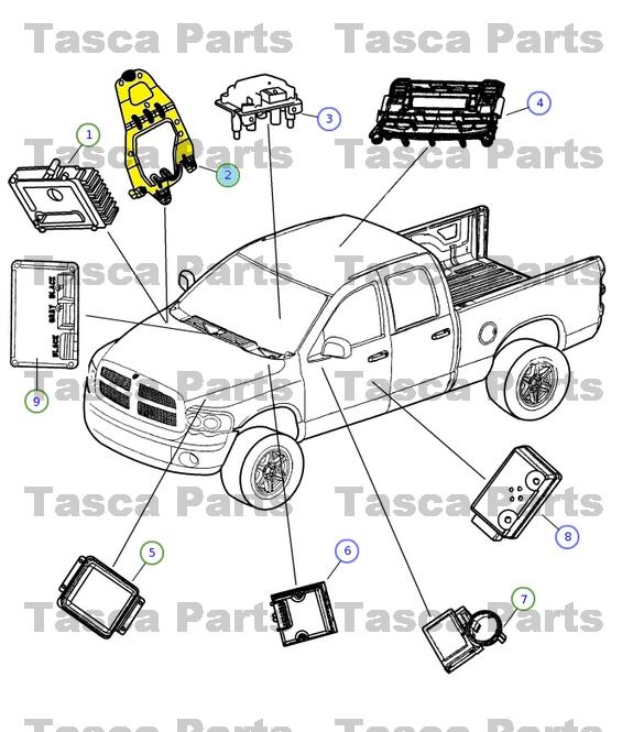 OEM MOPAR ENGINE POWERTRAIN CONTROL MODULE BRACKET FITS