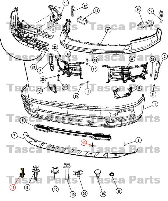 dodge ram oem parts diagram wiring relay off road lights brand new mopar front bumper valance push pin clip 2009 2014
