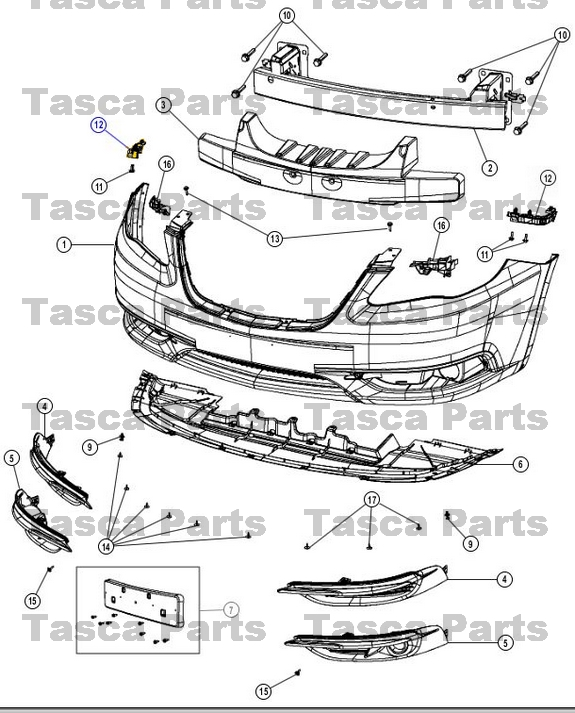 NEW OEM MOPAR RIGHT SIDE RH FRONT FASCIA SUPPORT BRACKET
