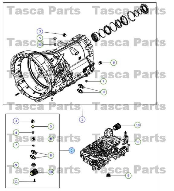 OEM TRANSMISSION PLUG KIT 2013 DODGE RAM 1500 2012-13