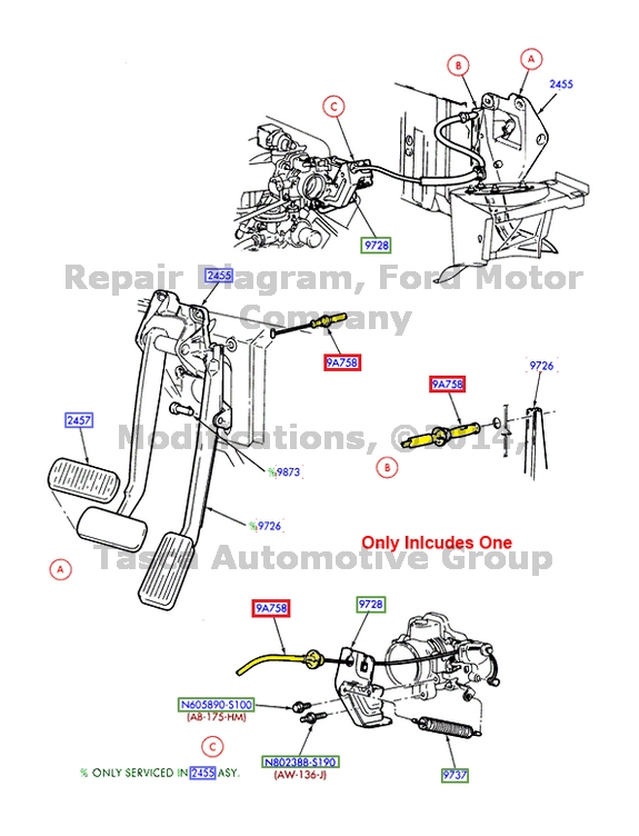 BRAND NEW OEM ACCELERATOR PEDAL TO CARBURETOR CABLE 3.8L