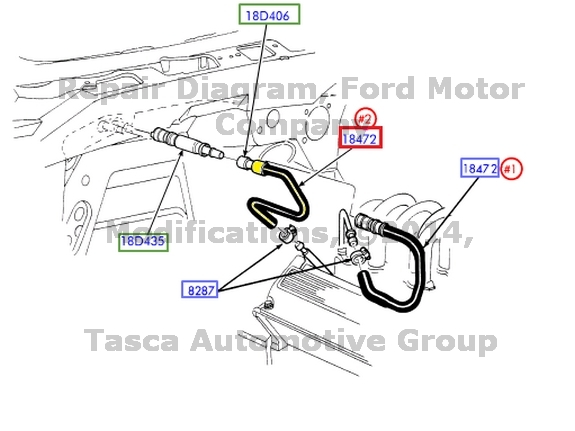 Wiring Diagram Database: 2001 Ford Expedition Heater Hose