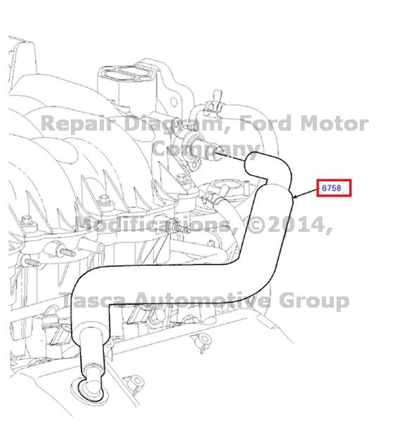 NEW OEM CRANKCASE VENTILATION TUBE FORD E150 E250 F150 4