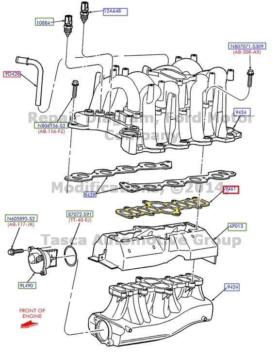 NEW OEM INTAKE MANIFOLD GASKET 5.4L 2001-2003 FORD F150