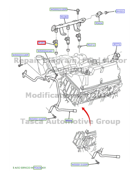 BRAND NEW OEM FUEL INJECTOR 2.3L 4 CYLINDER 2002-2003 FORD