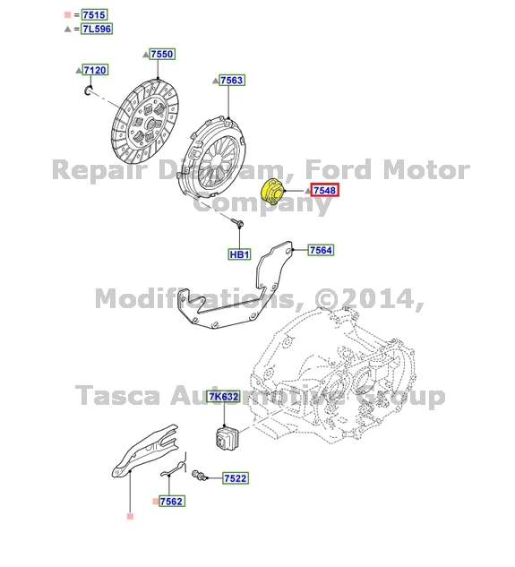 BRAND NEW OEM 5-MANUAL TRANSMISSION CLUTCH RELEASE BEARING