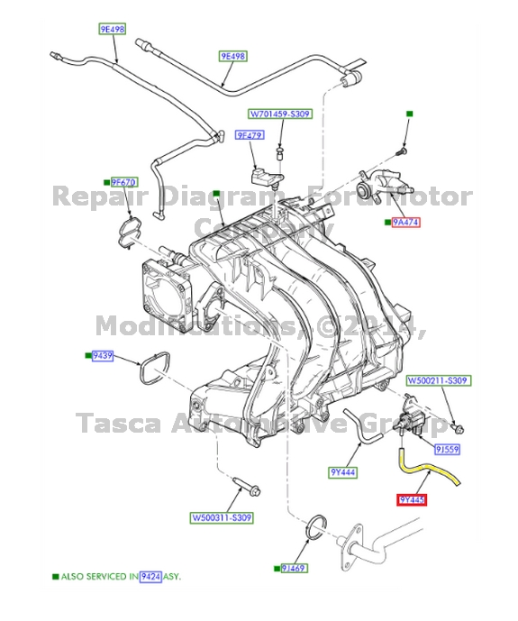 NEW OEM INTAKE MANIFOLD TO FUEL INJECTION PULSE HOSE 2.3L