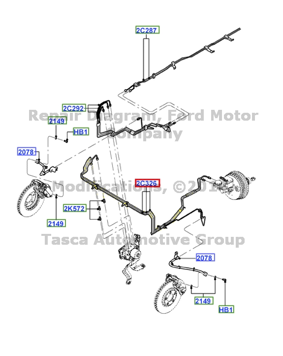 BRAND NEW OEM FRONT BRAKE LINE 2000-2004 LINCOLN LS 2002