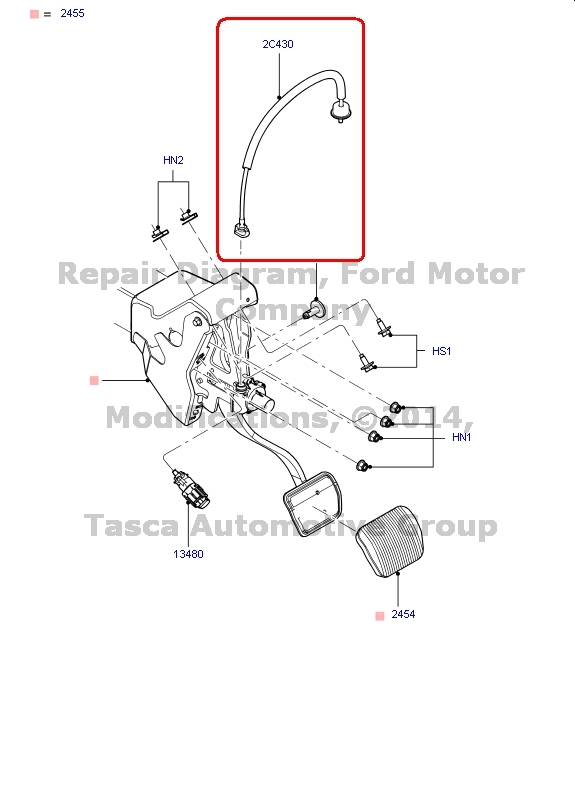 NEW OEM BRAKE PEDAL AND ACCELERATION CABLE LINCOLN