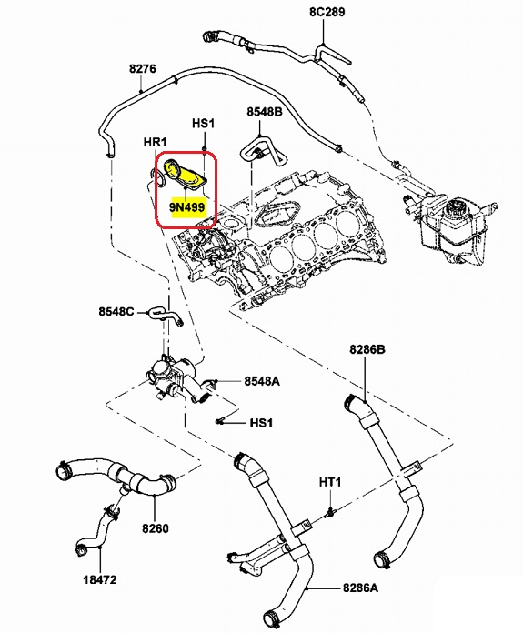 Lincoln Ls 3 9l Engine Cooling Parts Diagram Lincoln LS