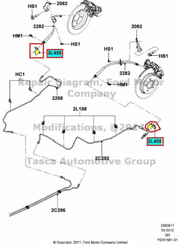 NEW OEM REAR BRAKE LINE BRACKET FORD CMAX FORD FOCUS FORD
