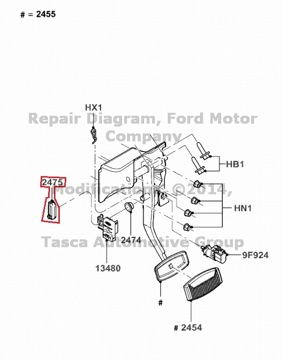 BRAND NEW OEM STOP LIGHT SWITCH RETAINER CLIP FORD LINCOLN