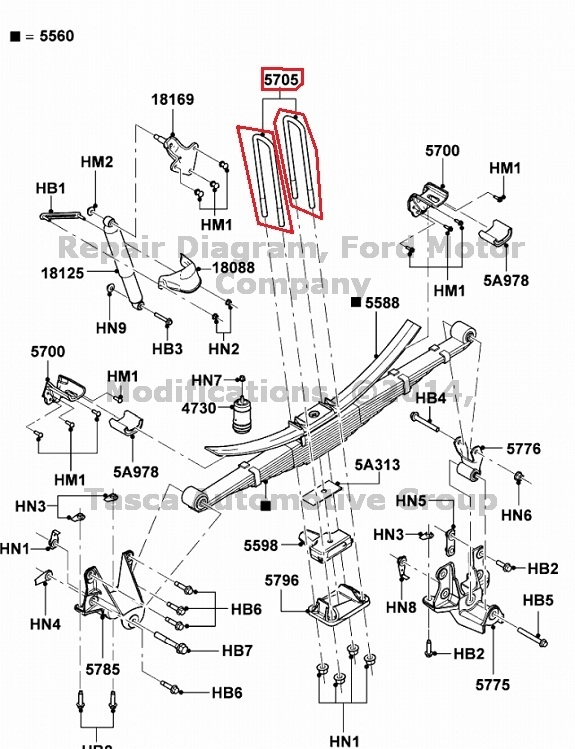 NEW OEM REAR LEAF SPRING U BOLT 2009-2010 FORD F250 F350