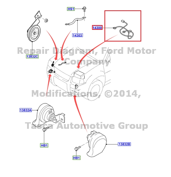 NEW OEM BATTERY POSITIVE CABLE 3.0L V6 2005-6 ESCAPE