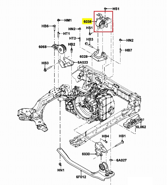2002 Ford Escape Engine Mount Diagram. Ford. Auto Parts