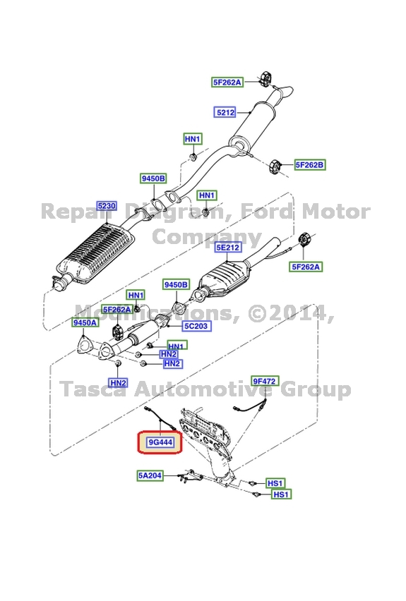 BRAND NEW OEM EXHAUST O2 OXYGEN SENSOR 2.3L FORD ESCAPE