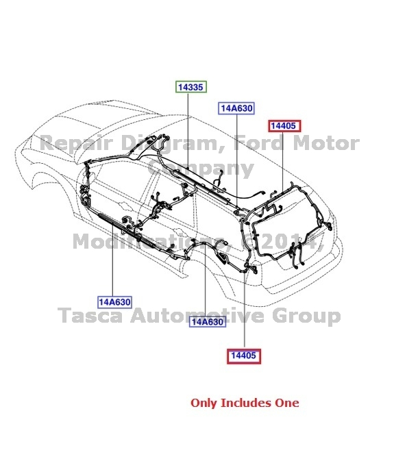 Wiring harness for 2005 ford focus