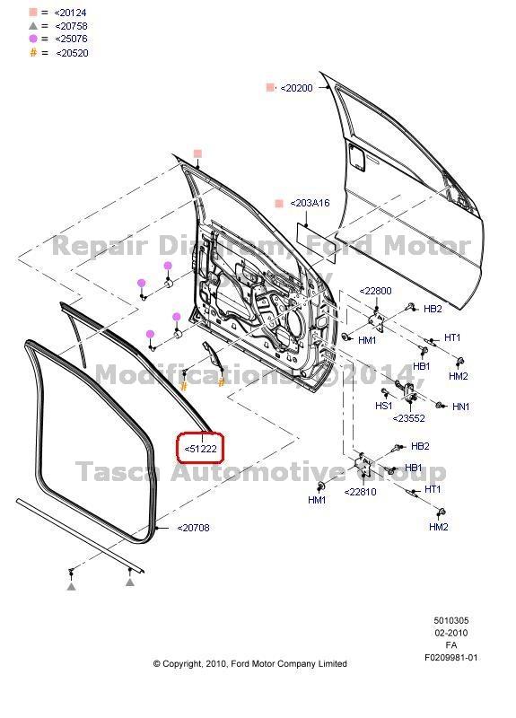 NEW Oem Lh Driver Side Door Weatherstrip Ford F250 F350