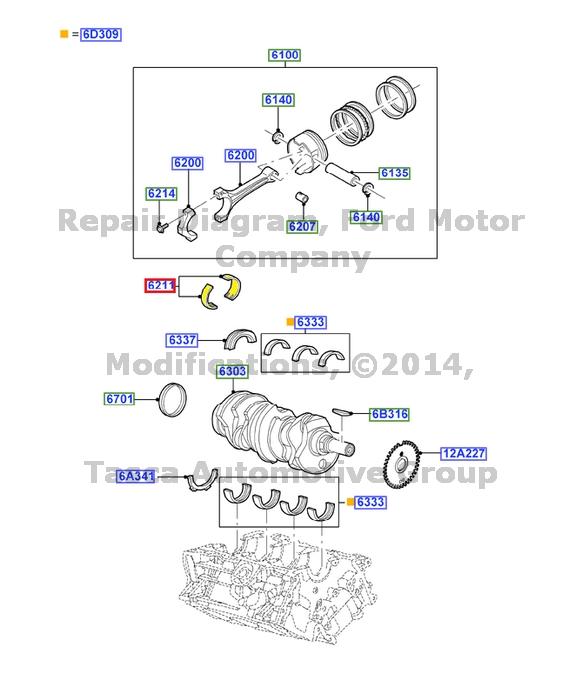 NEW OEM 3.0L V6 24V DOHC EFI DURATEC ENGINE CRANKSHAFT