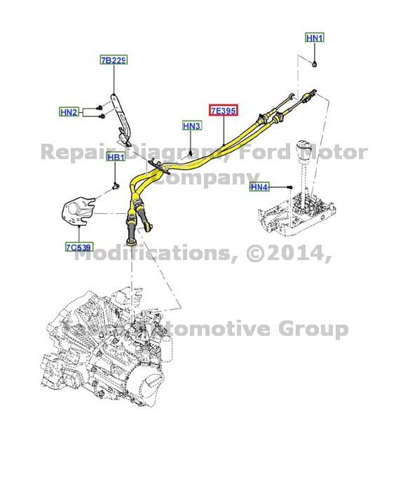 NEW OEM MANUAL TRANSMISSION GEAR LEVER CONTROL CABLE 2006