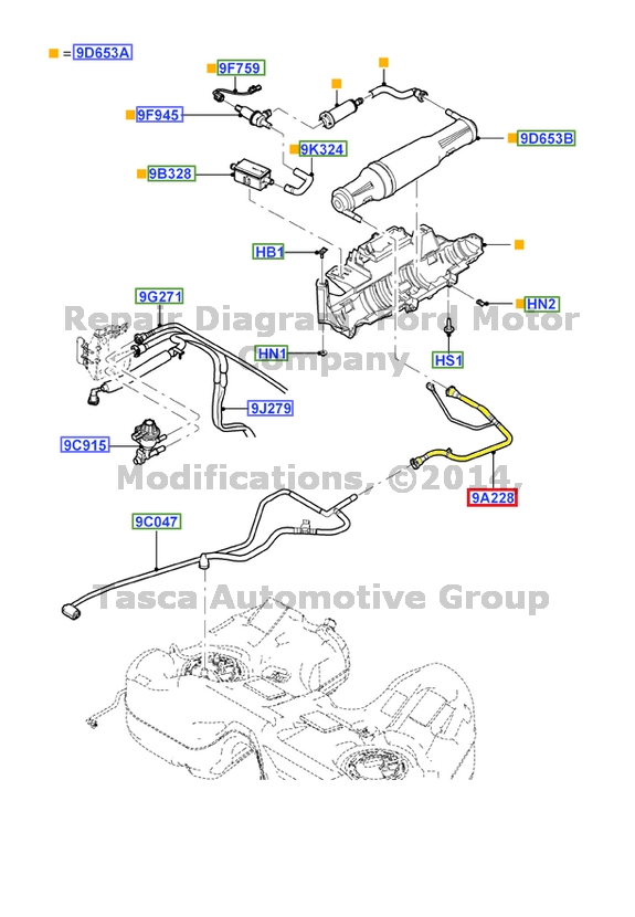 NEW OEM FUEL GAS VAPOR SYSTEM TUBE 2005-2007 FORD 500