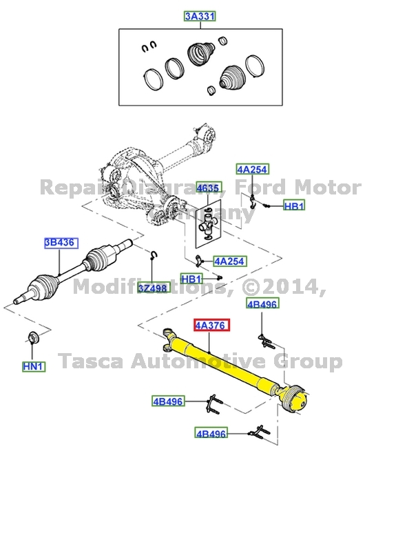 OEM FRONT AXLE DRIVESHAFT FORD EXPLORER SPORT TRAC